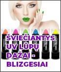 Šviečiantys UV lūpų dažai - blizgesiai