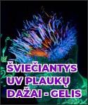 Šviečiantys UV plaukų dažai - gelis