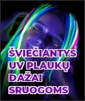 Šviečiantys UV plaukų dažai sruogoms