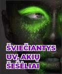 Šviečiantys UV akių šešėliai