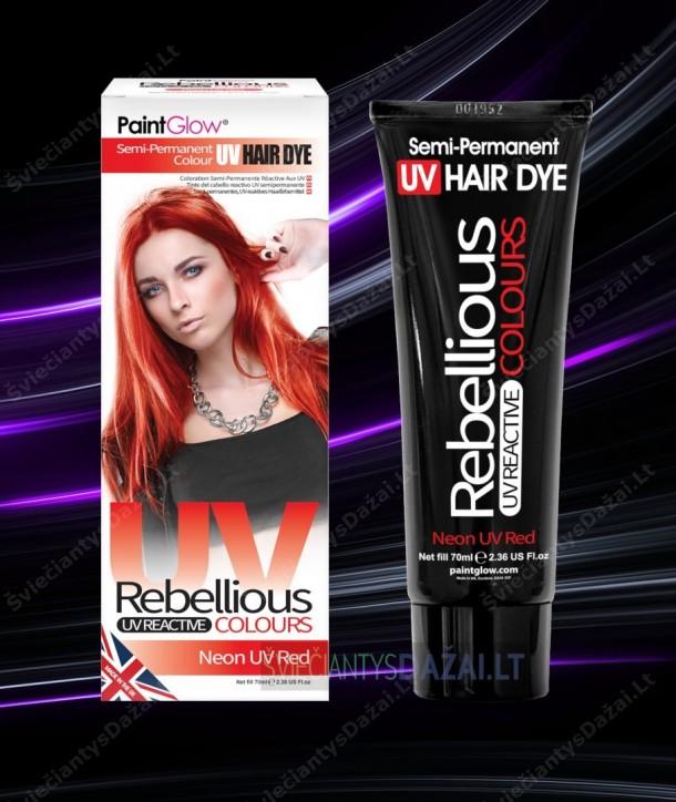 Šviečiantys UV, semi-permanentiniai plaukų dažai 70 ml.