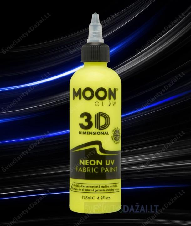 Šviečiantys UV, erdviniai 3D dažai audiniams 125 ml.