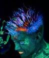 Šviečiantys UV, fluorescenciniai plaukų dažai - gelis 20 ml.