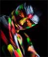 Šviečiantys UV, fluorescenciniai dažai veidui, kūnui 13 ml. su teptuku