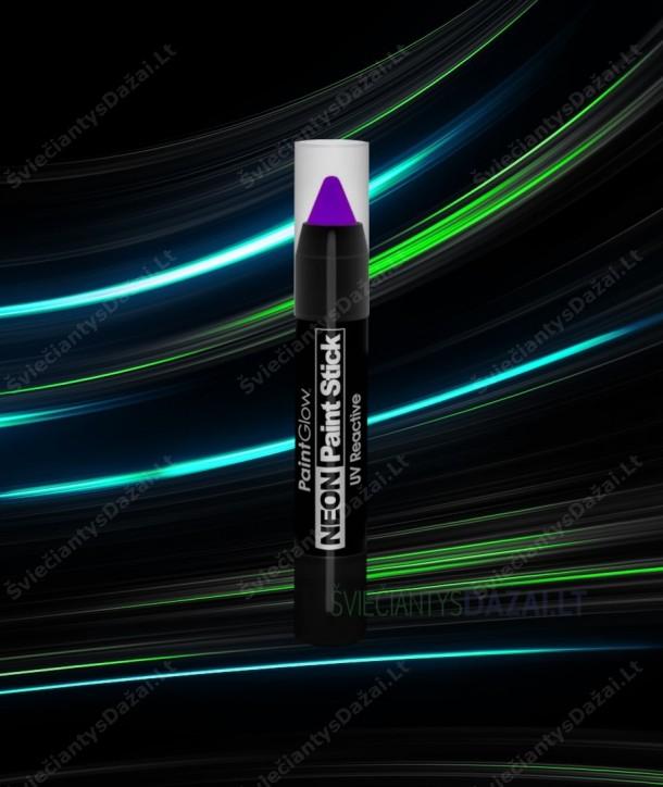 Šviečiantis UV, fluorescencinių dažų pieštukas veidui, kūnui