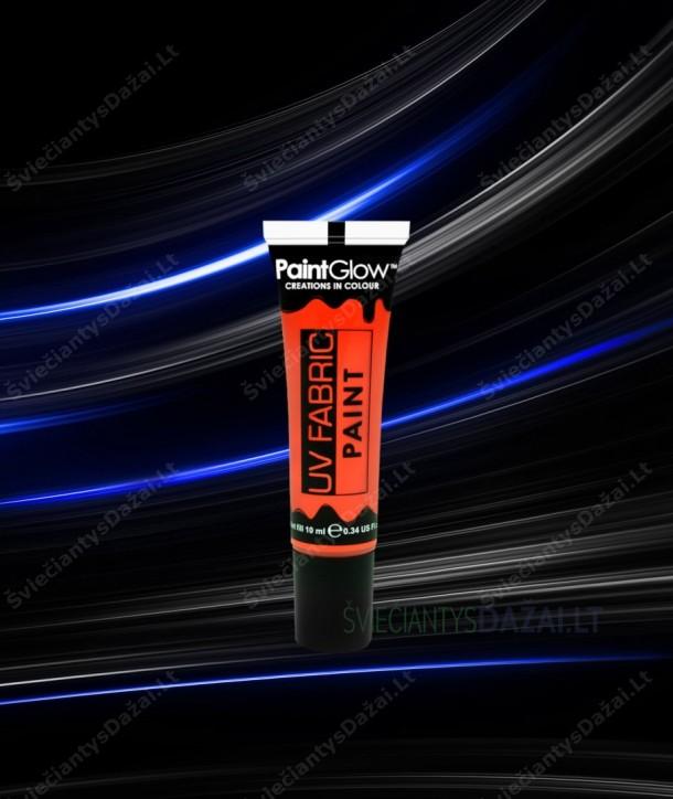 Šviečiantys UV, fluorescenciniai dažai audiniams 10 ml.