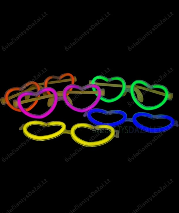 Jungtukas - širdelės formos akiniai