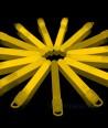 Geltonos šviečiančios lazdelės - pakabukai 25 vnt. pakuotė