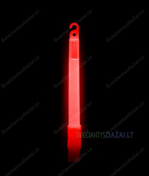 Raudona šviečianti lazdelė 15 cm