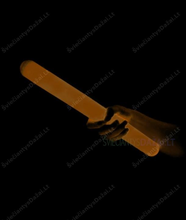 Oranžinė šviečianti lazdelė su apvalkalu 31 cm