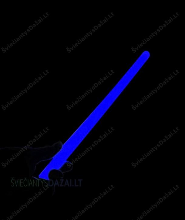 Mėlyna šviečianti lazdelė 35 cm