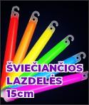 Šviečiančios lazdelės 15 cm
