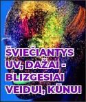 Šviečiantys UV dažai - blizgesiai veidui, kūnui