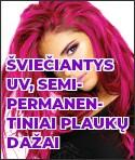 Šviečiantys UV semi-permanentiniai plaukų dažai