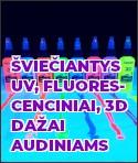 Šviečiantys UV, fluorescenciniai dažai audiniams